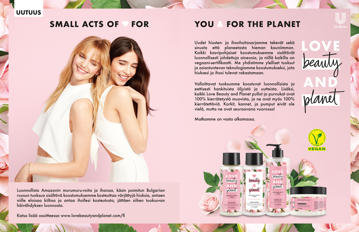 Unileverin Love Beauty And Planet -mainos